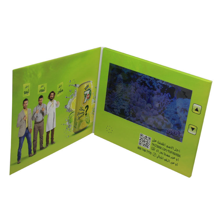 A5 Size LCD Video Card , 500mA Battery LCD Video Business Cards 7 Inch