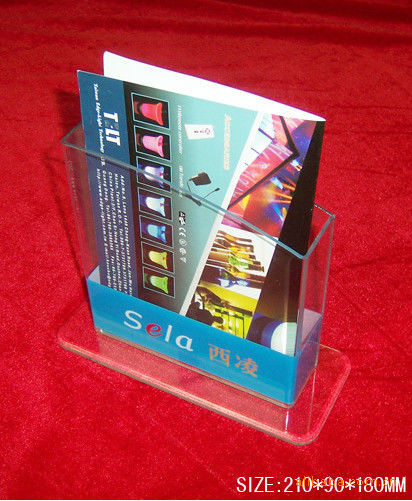 Hotel / Restaurant Transparent Acrylic Literature Display Stands With 0.8-12mm Thickness